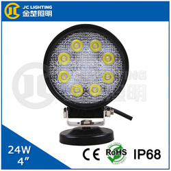 24W Car Motorcycle Lamp 12V Automotive LED Light for Rescue Vehicle, Military Command Vehicle, Train, Ship, Boat, Tank