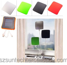Power bank solar panel stick to window