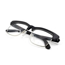 Elegant half rimless frame natural wood glasses, spring hinge glasses