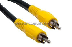 High Qualitied Gold Plated RCA to RCA Audio Vedio Cable 6ft