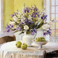 New arrival Oil painting flower picture