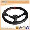 14Inch Genuine Leater Car Steering Wheel, Go Kart Steering Wheel