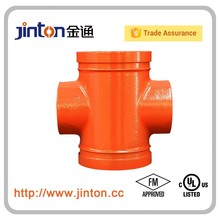 FM UL Approved Fire Protection Water Pipe Fittings Threaded Reducing Cross