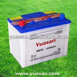 12V65AH Yuasan Professional Dry Acid Car Battery Export Import China 65D26R