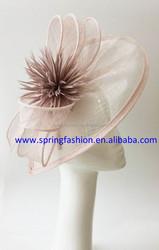 Wedding,Kentucky,Racing,Church,Event Pink fascinator on headband factory wholesale