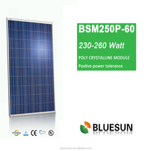 high quality CE/TUV/ISO full certified Bluesun hot seller nice price poly 250w solar pv module