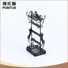 Unique durable del patrón del gato de regalo de metal antiguos de la joyería artesanal estante de exhibición