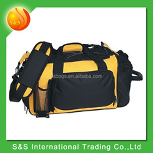 Durable Waterproof Sports Gym Duffel Bag with Shoes Compartment yellow