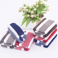 Cheap wholesale small 100% cotton multicolor solid color striped hand towel
