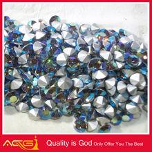 Sapphire Blue Crystal gem fancy cutting precious gems for decoration black girls rock rhinestone transfers