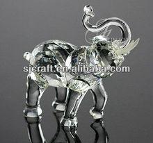 clear elephant crystal animal