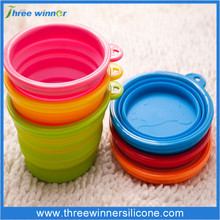 wholesale pet travel bowl silicone dog water bowl