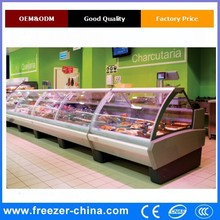 Commercial deli display case /Meat serve over refrigerated display showcase