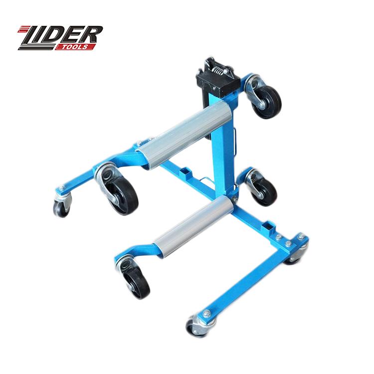 Nuevo diseño de acero 300Lbs de Material de acero de vehículo coche de rueda hidráulica Dolly