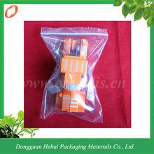 Plastic manufacturer zip transparent bag for toy