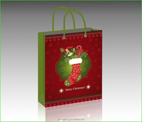 luxury Christmas paper Packing Bag
