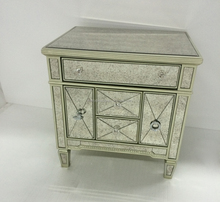 Hot sale mirrored glass nightstand with antique mirror