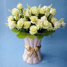 21 heads Korea rose artificial cream bridal bouquet rose wedding flower