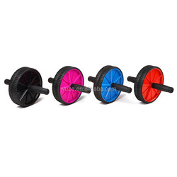 high quality fitness equipment double ab roller wheel