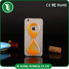 2015 cell phone case crystal clear sandglass design fashion 3d cell phone case for iPhone 6