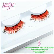 Qingdao factory made color printing colorful false eyelashes