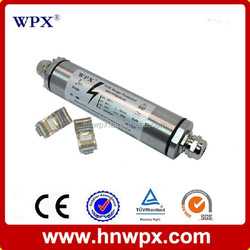 Silvery Type 1+type 2 48V surge protective device,high speed Ethernet gigabit netwrok signal lightning protection