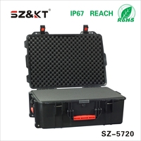 ABS Plastic heavy duty trolley tool case with sponge
