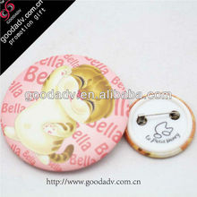 Plastic button badge with safety pin / tin button badge / plastic button badge