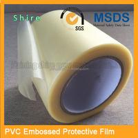 adhesive embossed pvc protective film/super high adhesion pvc protective film for shoes