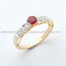 Ruby & Diamond Yellow Gold Ring