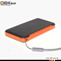 HOT Selling Solar Power Bank with External Battery 6600mah thin style solar power bank charger