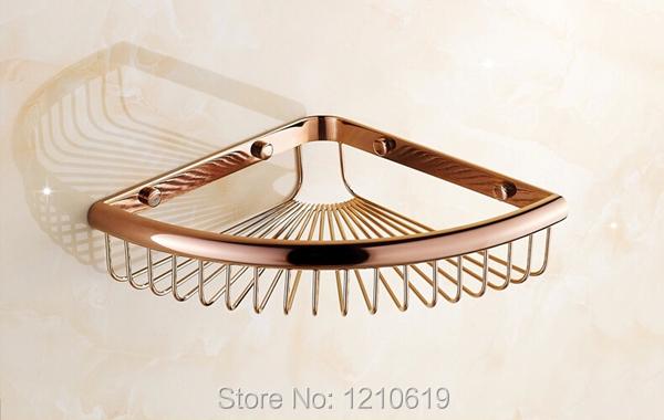 Купить Сша и треугольник угловые ванна полка настенный роза золотой польский косметический держатель ёмкость баскет-тип