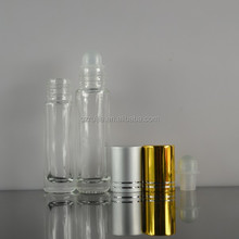 colored small glass cosmetic perfume bottle with roller ball