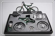 simulation educational toys Metal assembling diy bicycle model mountain base Fixed Gear model