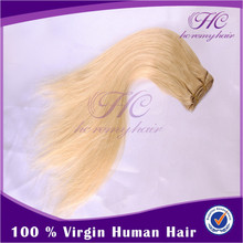 New Arrival 2015 Good Quality One Piece Remy Indian Blonde 20Inch Human Hair Extensions