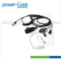 Adjustable headset 3 wire suveillance kits/acoustic tube earpiece High quality with clothing clip for ZMN6031(PTE-885)
