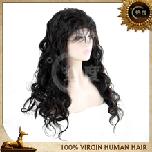 Elastic band brazilian hair glueless full lace wig,natural hairline full lace wig