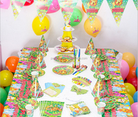 Cheap Happy Birthday Decoration Set With Animal Forest Theme