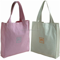 cotton beach bag with rope handle/ paper bag with logo print/ 100% cotton 14oz canvas high qualiy tote bag