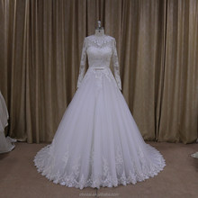 Arabic alibaba wedding dress with sleeves bridal dress for a prices