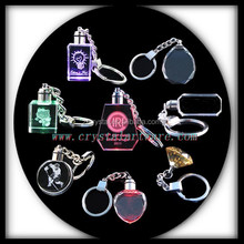 blank crystal keychain LED crystal keyring gifts