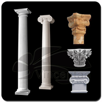 Hot Sale fluted Marble Pillar for Outdoor Decoration