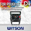 WITSON CAR DVD GPS NAVIGATION FOR CITROEN C4 2012 WITH WIFI 3G 1.6GHZ FREQUENCY 1080P 1G DDR RAM 8GB A8 DUAL CORE CHIPSET