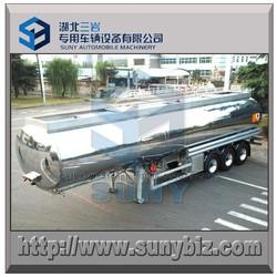 aluminum AA5083 / AA5454 petrol road tanker 3 axle semi trailer 42 cbm meet DOT, ADR, TUV standard