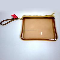 Custom Waterproof Clear PVC Glamour Bag Wristlet Cosmetic Bag