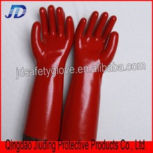High quality wholesale cheap Red oil resistant PVC gloves double dipped working gloves