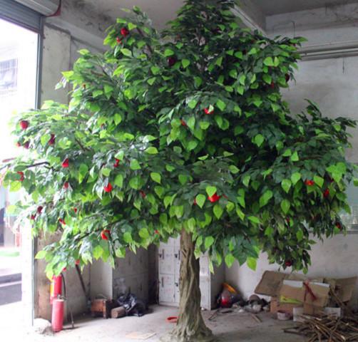 2015 new ldecorative apple tree artificial apple tree for Apple tree decoration
