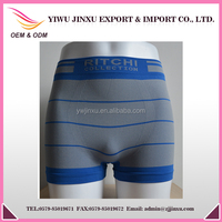 OEM Service Men's Boxers Briefs Sexy Grey Blue Stripes Printed Women Picture Wholesale Popular Style Body Fit Underwear
