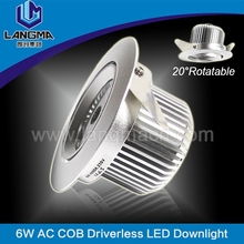 LM6-003-D70-D-6W Langma 6W hottest model adjustable recessed cob downlight 110v