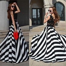 2015 summer new arrival charming harley lace Long Chiffon Formal Gown Ball Party Cocktail Evening Prom Dress guangzhou factory